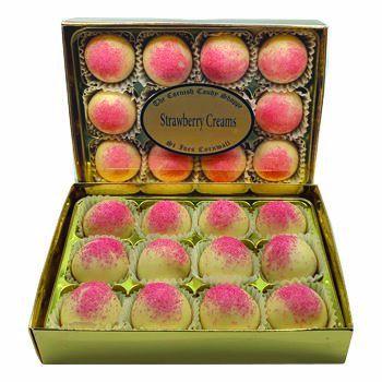 Gold Boxed Strawberry Creams
