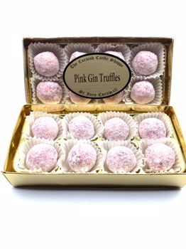 Gold Boxed Pink Gin Truffles