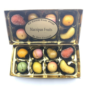 Gold Boxed Marzipan Fruits