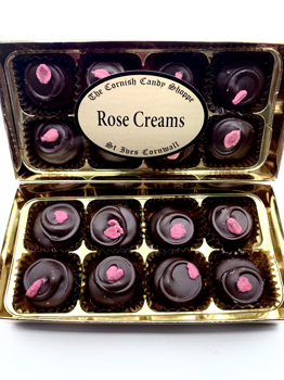 Gold Boxed Chocolate Rose Creams