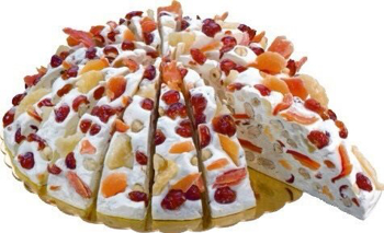 Italian Soft Nougat - Tropical Fruits Slice