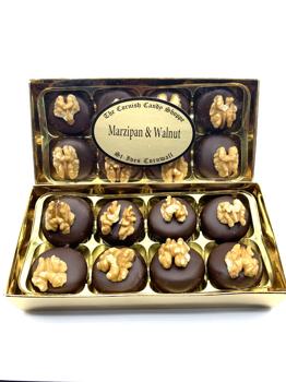 Gold Boxed Marzipan & Walnut