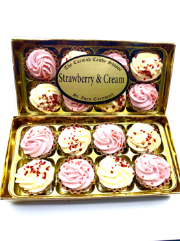 Gold Boxed Strawberry & Cream