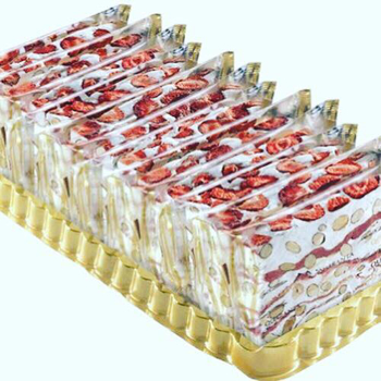 Italian Soft Nougat - Strawberry Slab.