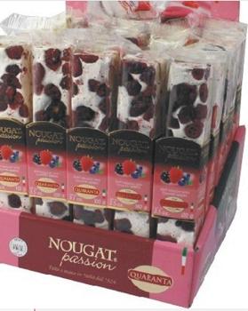 Italian Soft Nougat Bars - Berries