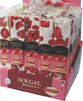 Italian Soft Nougat Bars - Strawberry