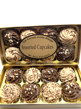 Gold Boxed Coffee & Chocolate Cupcakes