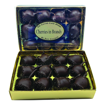 Gold Boxed Whole Cherries in Brandy