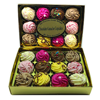 Gold Boxed Chocolates Cup Cakes