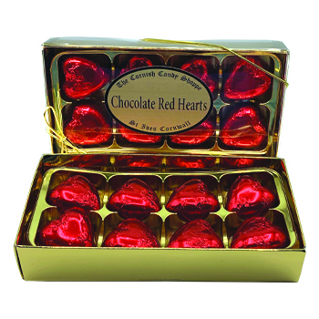 Gold Boxed Red Hearts