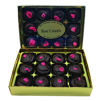 Gold Boxed Chocolates Rose Creams
