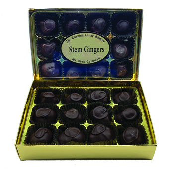 Gold Boxed Chocolates Stem Ginger