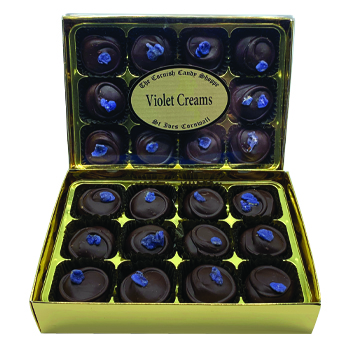 Gold Boxed Chocolates Violet Creams